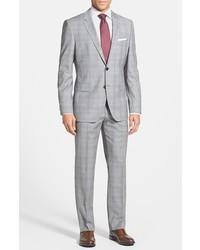BOSS HUGO BOSS Jamessharp Trim Fit Plaid Suit