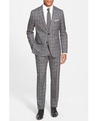BOSS Jewelslinus Trim Fit Plaid Wool Suit