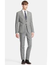 PAUL SMITH LONDON Kensington Seersucker Plaid Suit Black 42