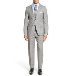 Strong suit cutlass trim fit plaid wool suit medium 639329