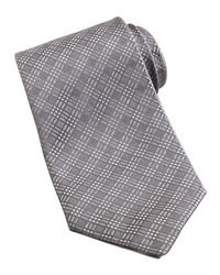 Grey Plaid Tie