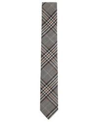 Hugo Boss Tie 6 Cm Slim Wool Plaid Tie One Size Grey