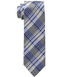 U.S. Polo Assn. White Twill Plaid Tie