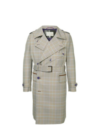 Grey Plaid Trenchcoat