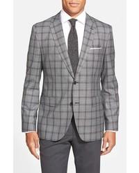 BOSS Jayden Trim Fit Plaid Wool Sport Coat