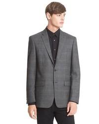 John Varvatos Star Usa John Varvatos Star Usa Trim Fit Plaid Wool Sport Coat