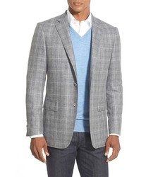 Hart Schaffner Marx New York Classic Fit Plaid Wool Sport Coat
