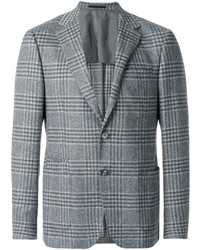 Z Zegna Plaid Suit Jacket