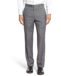Flat front plaid wool trousers medium 603767