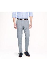 Ludlow slim suit pant in glen plaid italian wool linen medium 99456