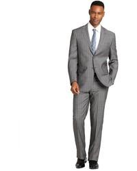 Grey Plaid Wool Suit