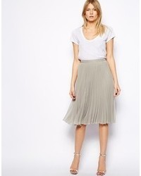 Mango Metallic Midi Skirt