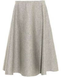 The Row Nisha Double Faced Wool Midi Skirt