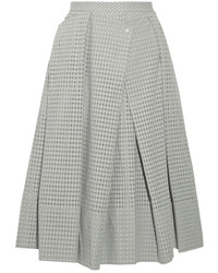 Tibi Riko Eyelet Cotton Midi Skirt