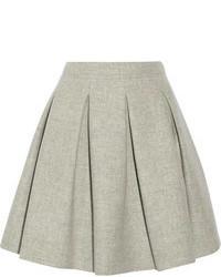 Grey Pleated Mini Skirt
