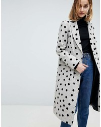 Grey Polka Dot Coat