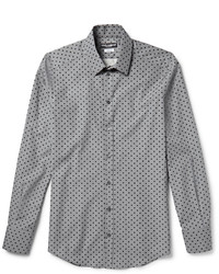 Grey Polka Dot Dress Shirt