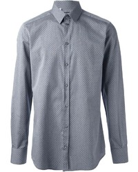 Grey Polka Dot Long Sleeve Shirt