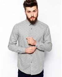Brand smart shirt in long sleeve with marl polka dot medium 130287