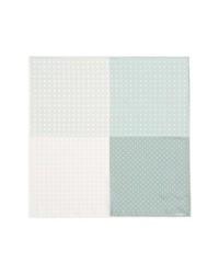 Lanvin Polka Dot Silk Pocket Square Grey One Size