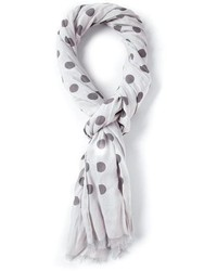Grey Polka Dot Scarf