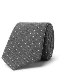Grey Polka Dot Wool Tie