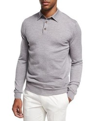 Grey Polo Neck Sweater
