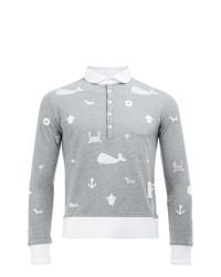 Thom Browne Long Sleeve Polo Shirt