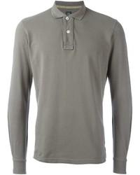 Eleventy Long Sleeve Polo Shirt