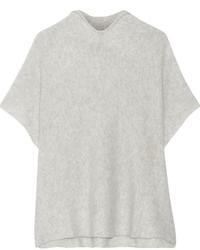 Effa cashmere and silk blend poncho light gray medium 732304