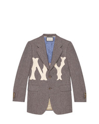 Gucci Wool Jacket With Ny Yankees Patch