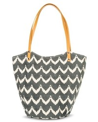 Grey Print Canvas Tote Bag