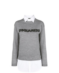 Dsquared2 Jumper With Shirt Detail