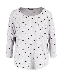Onlelcos jumper light grey melangeblack hearts aop medium 4256782