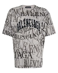 Balenciaga All Over Logo T Shirt