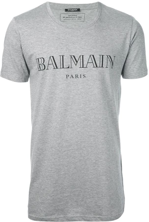 Balmain logo print T-shirt Outlet Original hGRcEG