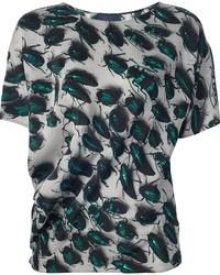 Lanvin Beetle Print T Shirt