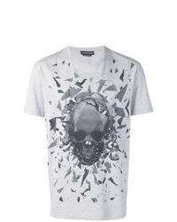 Alexander McQueen Broken Skull Print T Shirt