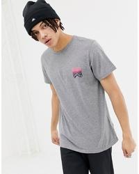 Penfield Caputo Back Print T Shirt In Grey Marl