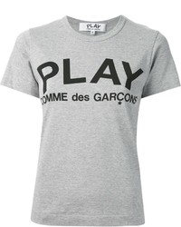 Comme des garons play printed logo t shirt medium 237072