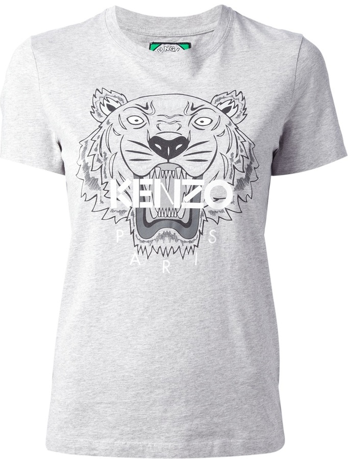 32e66119 Kenzo Logo Tiger Print T Shirt, £92 | farfetch.com | Lookastic UK