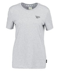 Reebok Print T Shirt Medium Grey Heather