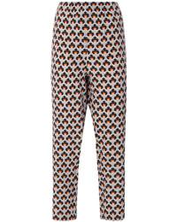 Portrait print trousers medium 4346498