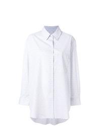 Grey Print Dress Shirt