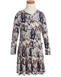 Molo Girls Cillie Horse Print Dress