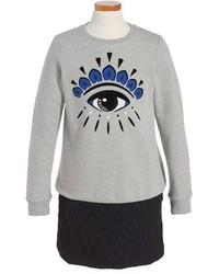 Kenzo Girls Graphic Sweatshirt Dress