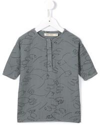 Bobo Choses Ribbed Scribble Print Dress