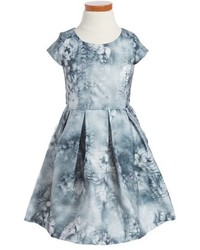 Ruby & Bloom Toddler Girls Illusion Floral Print Fit Flare Dress