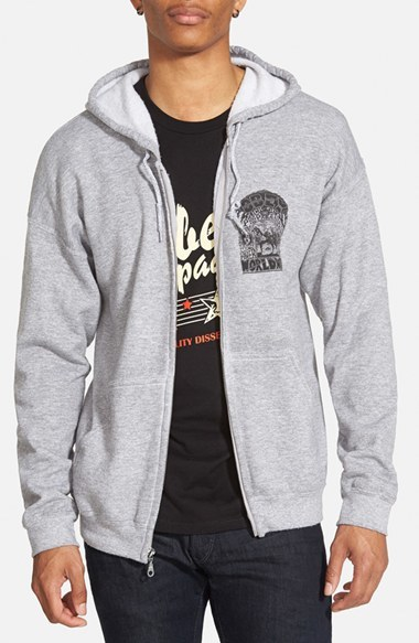 603805a27ee4 ... Obey Peace Horse Graphic Zip Hoodie ...
