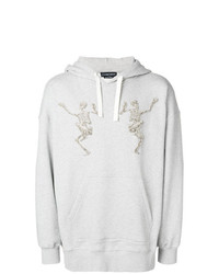 Alexander McQueen Skeleton Embroidered Hoodie